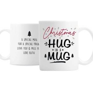 Personalised Christmas Hug Mug