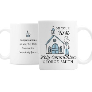 Personalised Boys First Holy Communion Mug