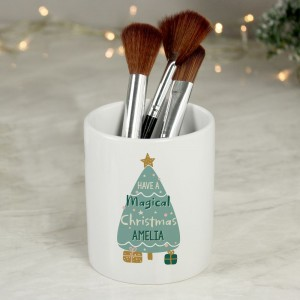 Personalised Have A Magical Christmas Ceramic Plant Pot