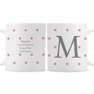 Personalised Monogram Gold Spot Mug
