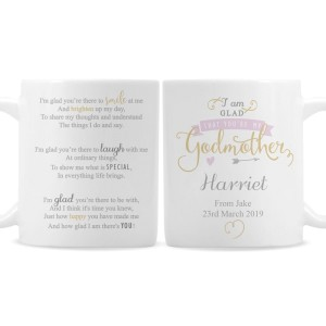 Personalised I Am Glad... Godmother Mug