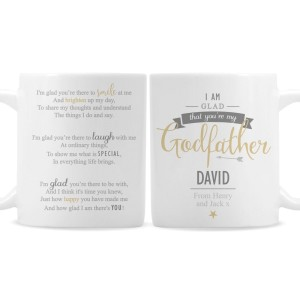 Personalised I Am Glad... Godfather Mug