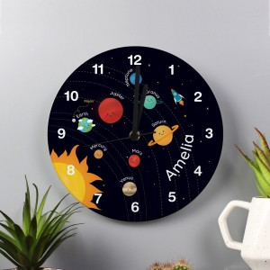 Personalised Solar Sytem Glass Clock