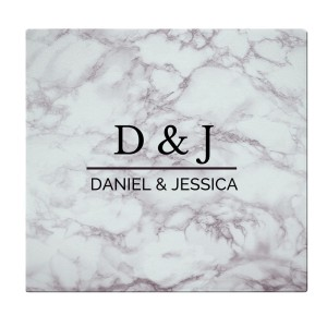 Personalised Marble Effect Glass Chopping Board/Worktop Saver
