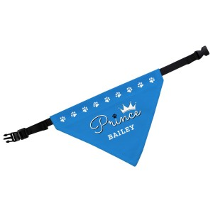 Personalised Prince Dog Bandana