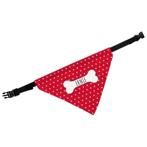 Personalised Red Polka Dot Dog Bandana