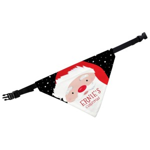 Personalised Santa Dog Bandana