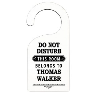 "Personalised Black ""Do Not Disturb"" Door Hanger"