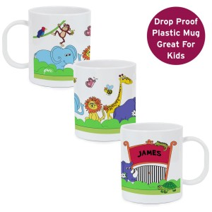 Personalised Zoo Plastic Mug