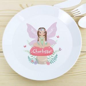Personalised Toadstool Fairy Plastic Plate