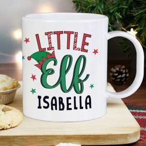 Personalised Little Elf Plastic Mug