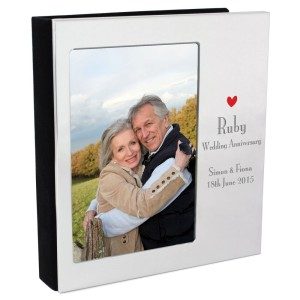 Personalised Decorative Ruby Anniversary 6x4 Photo Frame Album