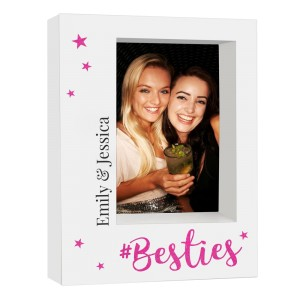 Personalised Besties 7x5 Box Photo Frame