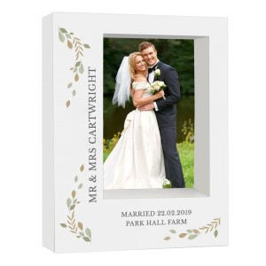 Personalised Fresh Botanical 7x5 Box Photo Frame