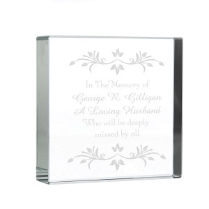 Personalised Sentiments Large Crystal Token