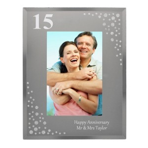 Personalised Big Age 6x4 Diamante Glass Photo Frame