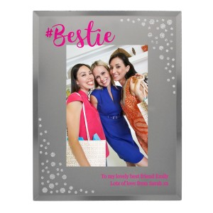Personalised Bestie 5x7 Mirrored Glass Photo Frame