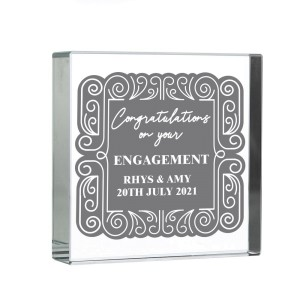 Personalised Congratulations Large Crystal Token