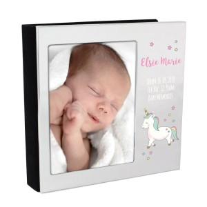 Personalised Baby Unicorn 4x6 Photo Frame Album