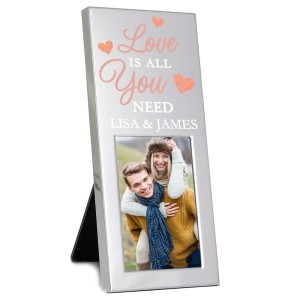 "Personalised ""Love is All You Need"" 3x2 Photo Frame"
