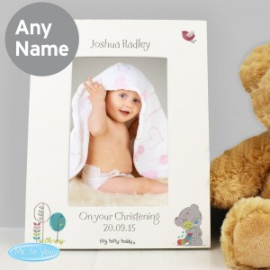 Personalised Tiny Tatty Teddy Cuddle Bug 4x6 White Photo Frame