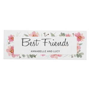 Personalised Floral Sentimental Wooden Block Sign