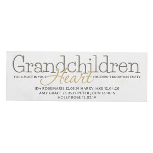 Personalised Grandchildren Wooden Block Sign