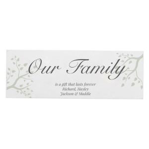 Personalised Branches Wooden Block Sign