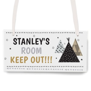 Personalised Wigwam Wooden Sign
