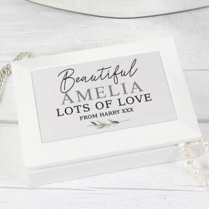 Personalised Botanical Jewellery Box