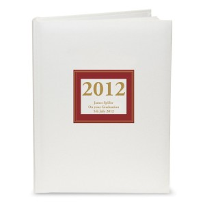 Personalised Red Square Traditional Album