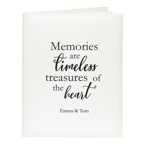 "Personalised ""Memories are Timeless"" Traditional Album"