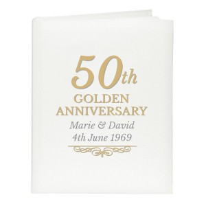 Personalised 50th Golden Anniversary Traditional Album