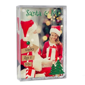 Personalised Santa & Me 6x4 Glitter Shaker Photo Frame
