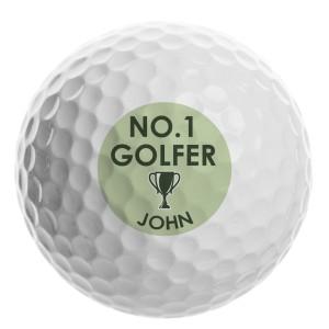 Personalised No.1 Golfer Golf Ball