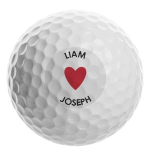 Personalised Heart Golf Ball