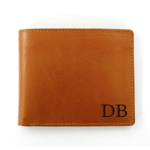 Personalised Initials Tan Leather Wallet