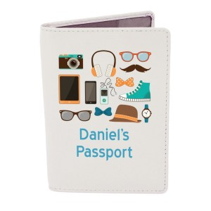 Personalised Male Essentials Cream Passport Holder