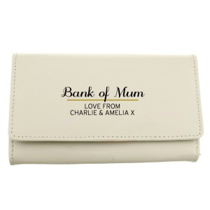 Personalised Classic Cream Leather Purse