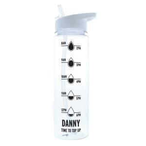 "Personalised Black ""Hydration Tracker"" Island Water Bottle"