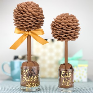 Personalised Chocolate Button Tree - 35cm