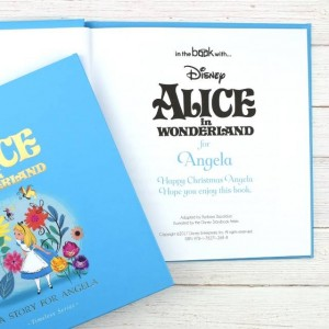 Personalised Disney Alice In Wonderland Story Book