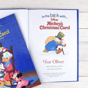 Personalised Disney Mickey's Christmas Carol Story Book - Softback