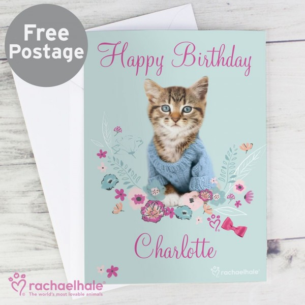 Personalised Rachael Hale Cute Kitten Card Birthday Cards For Her