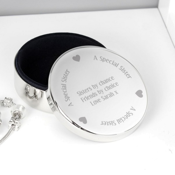 c802dc9164 Personalised A Special Sister Round Trinket Box - Trinket Boxes - Jewellery  Boxes - All Gifts