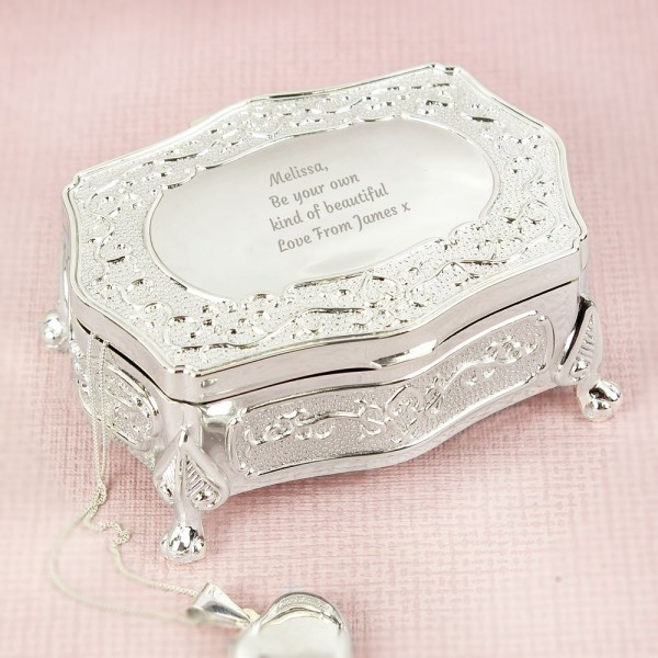 c71b2621f6 Personalised Any Message Small Antique Trinket Box