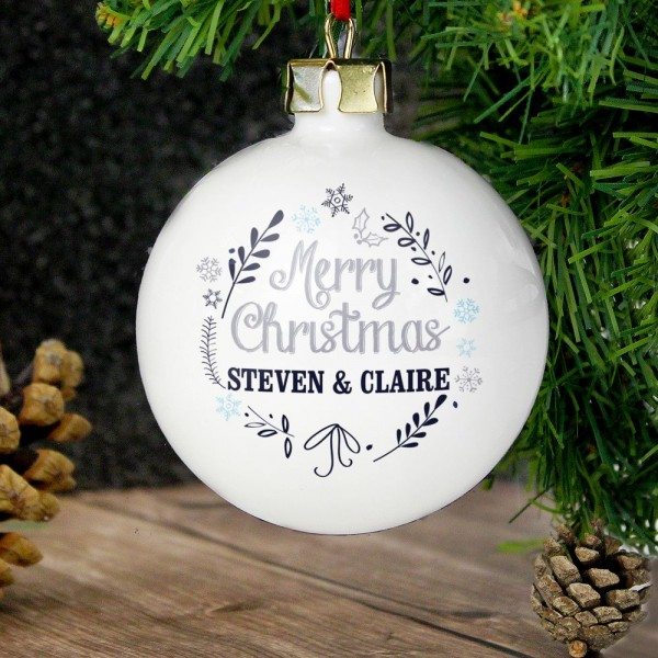Personalised Christmas Frost Bauble ...