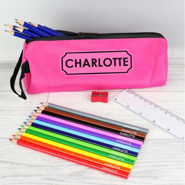 Personalised Any Name Incredibles Pencil Case Make Up Bag School Kids Stationary
