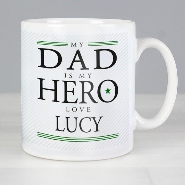 d8f1fb45780 Personalised My Dad is My Hero Mug