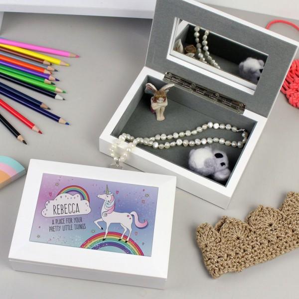 Personalised Unicorn Jewellery Box